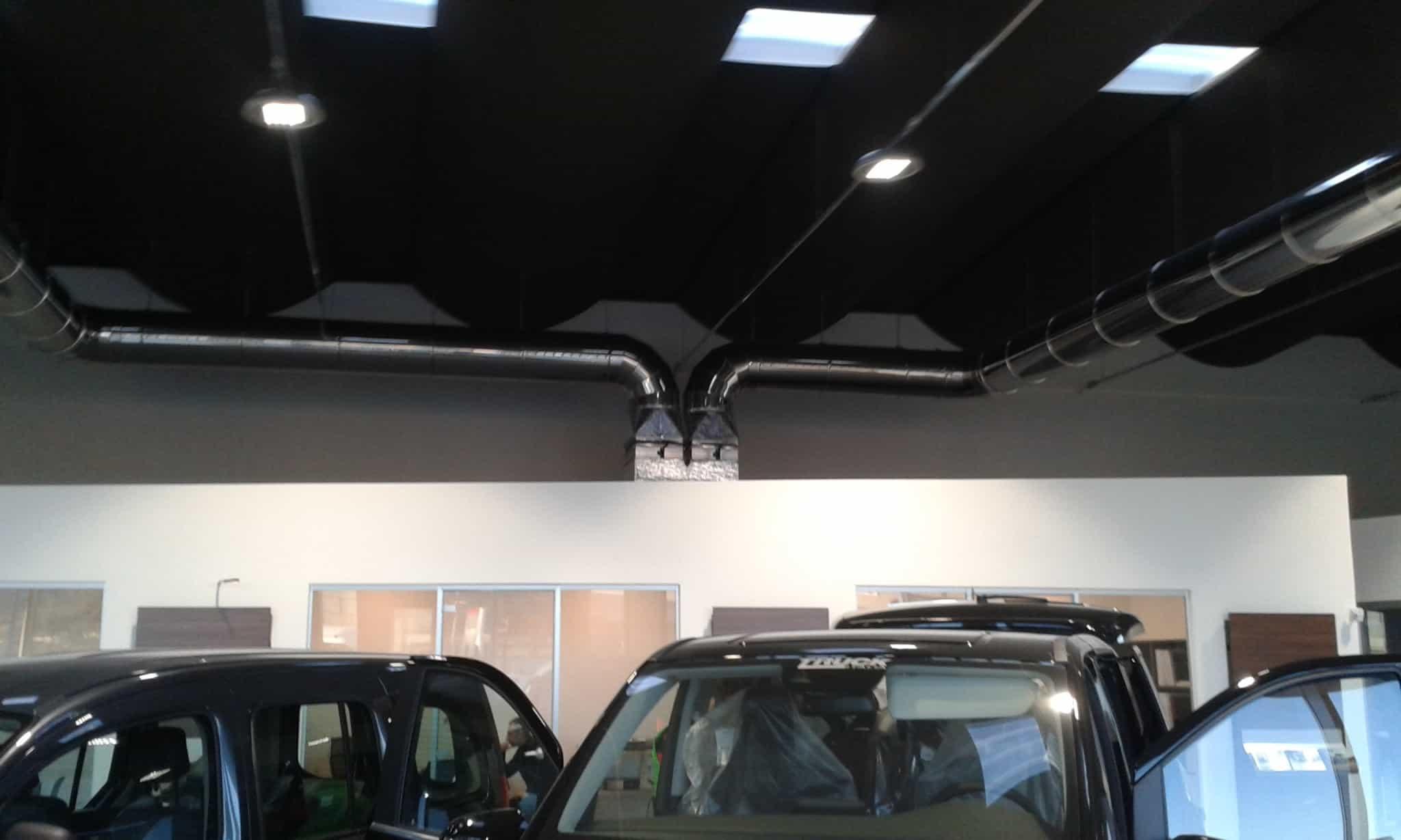 impianto termico concessionario showroom